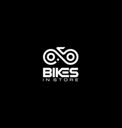 Letter b i and s with bike logo design concept vector