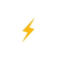 lightning icon logo and symbols vector image