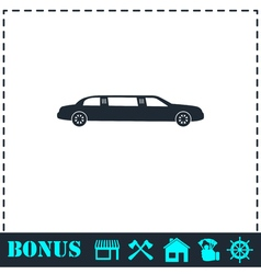 Limousine icon flat vector image