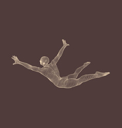 man falls down from a height man fall on a jump vector image