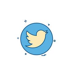 Media network social twitter icon design vector