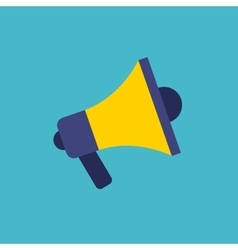 Megaphone flat isolated icon vector