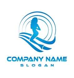Mermaid business logo vector