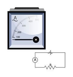 minimalistic ammeter on white background vector image