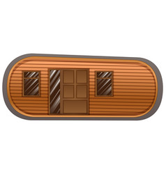 Mobile home with windows and door vector