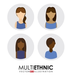 multi ethnic vector image