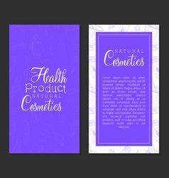 natural cosmetics health product card template vector image