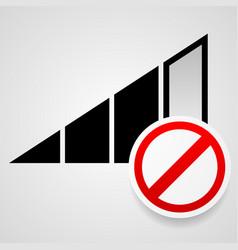 no signal sign bad antenna no internet connection vector image