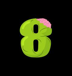 number 8 zombie monster font eight bones vector image