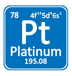 Periodic table element platinum icon vector