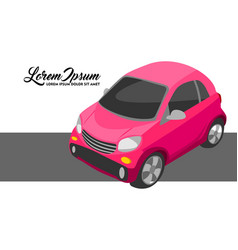 pink city car vector image