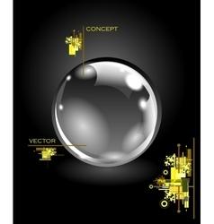 Realistic sphere vector image