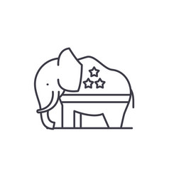 republican elephant line icon concept republican vector image