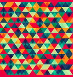 retro triangle seamless pattern 2 vector image