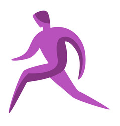 running man silhouette vector image