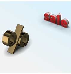 sale percent vector image
