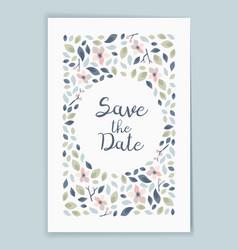 save date wedding invitation card design vector image