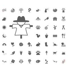 scarecrow icon spring icon vector image
