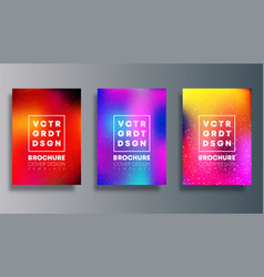 set colorful gradient cover for flyer poster vector image