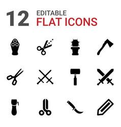 Sharp icons vector