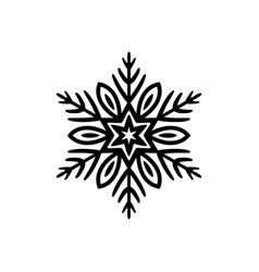 Simple black freehand icon of a snowflake vector