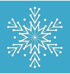 Snowflake Snowflake icon flat style Snowflake vector image