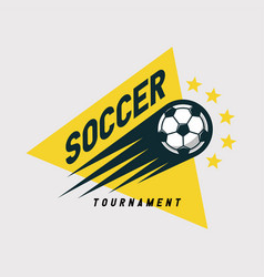 soccer football tournament logo vector image