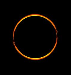 Solar eclipse abstract ring vector