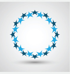 stars in circle shape vector image