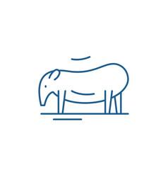 Tapir line icon concept tapir flat symbol vector