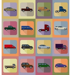 transport flat icons 20 vector image
