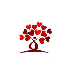 tree love vector image
