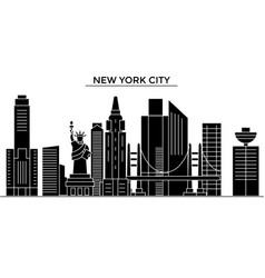 Usa new york new york city architecture vector