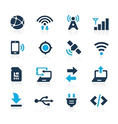 web and mobile 6 azure series vector image