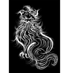 white domestic cat vector image