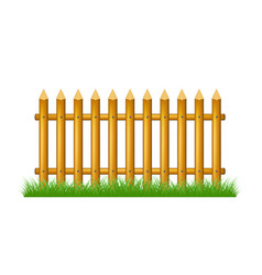 wooden fence standing in grass vector image