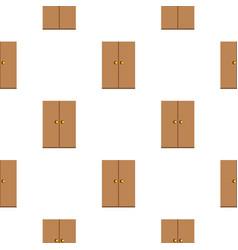 Wooden wardrobe pattern flat vector