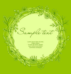 Wreath with text vector