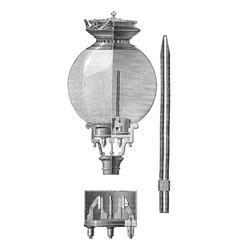 Yablochkov Candle vintage engraved vector image
