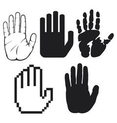 black hands vector image vector image