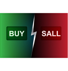 buy and sell buttons on digital processing vector image vector image