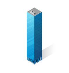 Isometric skyscraper icon vector
