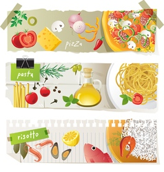 italian cuisine dishes vector image vector image