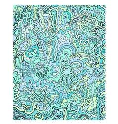 ocean doodles vector image vector image