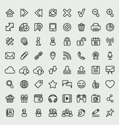 Universal Web Icons Outline Set vector image