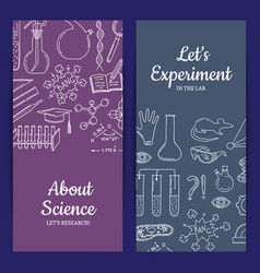 card or flyer template with science or vector image