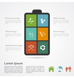 energy infographic vector image vector image