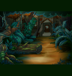 haunted house in the deep forest vector image vector image
