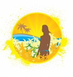 hawaii girl vector image vector image