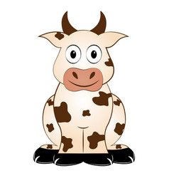 isolated cow icon vector image